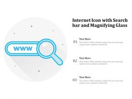 Internet Icon With Search Bar And Magnifying Glass