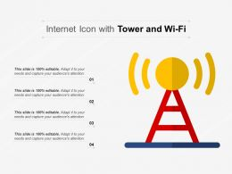 Internet Icon With Tower And Wi Fi