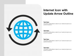 Internet Icon With Update Arrow Outline