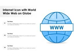 Internet Icon With World Wide Web On Globe