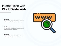 Internet Icon With World Wide Web