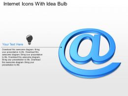 Internet Icons With Idea Bulb Powerpoint Template Slide