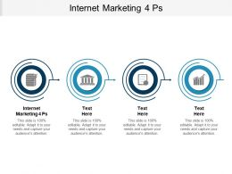 Internet Marketing 4 Ps Ppt Powerpoint Presentation Inspiration Background Designs Cpb