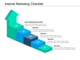 Internet Marketing Checklist Ppt Powerpoint Presentation Example 2015 Cpb