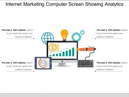 Internet Marketing Computer Screen Showing Analytics