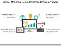 Internet Marketing Computer Screen Showing Analytics