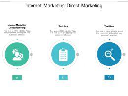 Internet Marketing Direct Marketing Ppt Powerpoint Presentation Gallery Designs Cpb