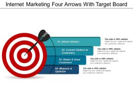 Internet Marketing Four Arrows With Target Board