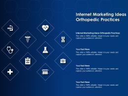 Internet Marketing Ideas Orthopedic Practices Ppt Powerpoint Presentation Infographics Brochure