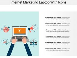 Internet Marketing Laptop With Icons