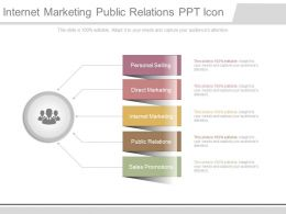 Internet Marketing Public Relations Ppt Icon