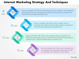 Internet Marketing Strategy And Techniques Flat Powerpoint Design