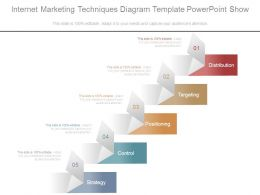 Internet Marketing Techniques Diagram Template Powerpoint Show