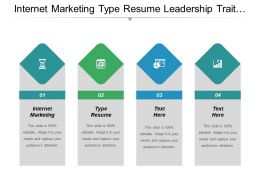 Internet Marketing Type Resume Leadership Trait Resume Designs Cpb