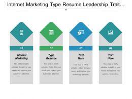Internet Marketing Type Resume Leadership Trait Resume Designs Cpb