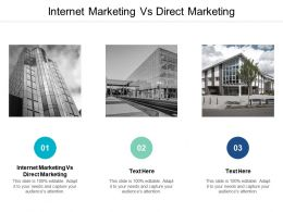 Internet Marketing Vs Direct Marketing Ppt Powerpoint Presentation Gallery Brochure Cpb
