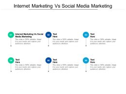Internet Marketing Vs Social Media Marketing Ppt Powerpoint Presentation Slides Example Introduction Cpb