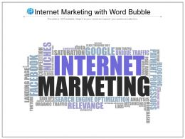 Internet Marketing With Word Bubble