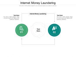 Internet Money Laundering Ppt Powerpoint Presentation Show Deck Cpb