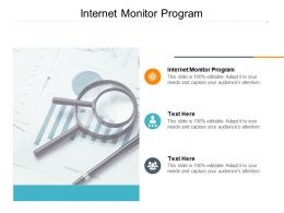Internet Monitor Program Ppt Powerpoint Presentation Infographic Template Microsoft Cpb