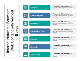 Internet Networks Browsers Web Content With Vertical Boxes