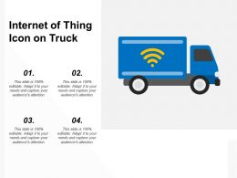 Internet Of Thing Icon On Truck
