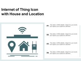 Internet Of Thing Icon With House And Location