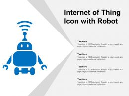 Internet Of Thing Icon With Robot