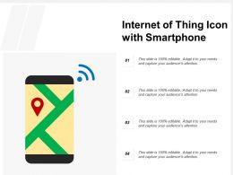 Internet Of Thing Icon With Smartphone