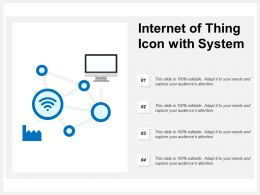 Internet Of Thing Icon With System
