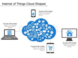 Internet Of Things Cloud Shaped