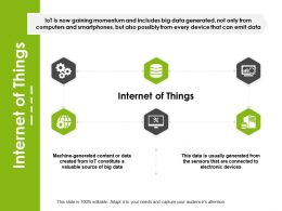 Internet Of Things Electronic Devices Ppt Powerpoint Presentation Infographic Template Layouts
