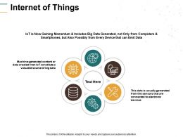 Internet Of Things Gear Technology Ppt Powerpoint Presentation File Slideshow