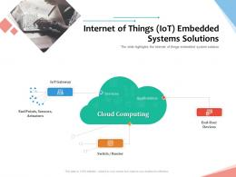 Internet Of Things IoT Embedded Systems Solutions Internet Of Things IOT Overview Ppt Powerpoint Inspiration