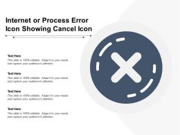 Internet Or Process Error Icon Showing Cancel Icon