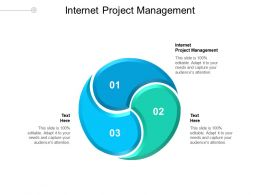 Internet Project Management Ppt Powerpoint Presentation Infographics Objects Cpb