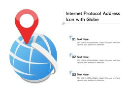 Internet Protocol Address Icon With Globe
