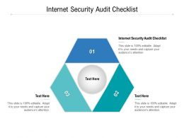 Internet Security Audit Checklist Ppt Powerpoint Presentation Pictures Images Cpb