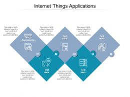 Internet Things Applications Ppt Powerpoint Presentation Outline Slide Cpb