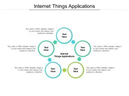 Internet Things Applications Ppt Powerpoint Presentation Professional Clipart Images Cpb