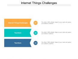 Internet Things Challenges Ppt Powerpoint Presentation Icon Diagrams Cpb