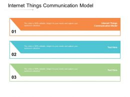 Internet Things Communication Model Ppt Powerpoint Presentation Portfolio Layout Ideas Cpb
