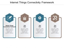 Internet Things Connectivity Framework Ppt Powerpoint Presentation Professional Microsoft Cpb