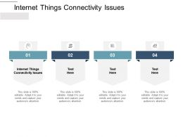 Internet Things Connectivity Issues Ppt Powerpoint Presentation Summary Cpb