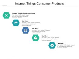Internet Things Consumer Products Ppt Powerpoint Presentation Pictures Elements Cpb