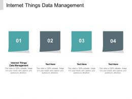 Internet Things Data Management Ppt Powerpoint Presentation Slides Professional Cpb