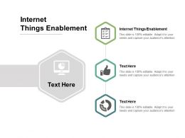 Internet Things Enablement Ppt Powerpoint Presentation Layouts Sample Cpb