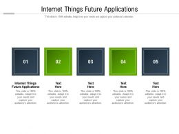 Internet Things Future Applications Ppt Powerpoint Presentation Outline Cpb
