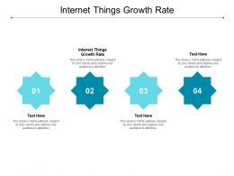 Internet Things Growth Rate Ppt Powerpoint Presentation Ideas Demonstration Cpb
