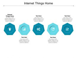 Internet Things Home Ppt Powerpoint Presentation Pictures Show Cpb